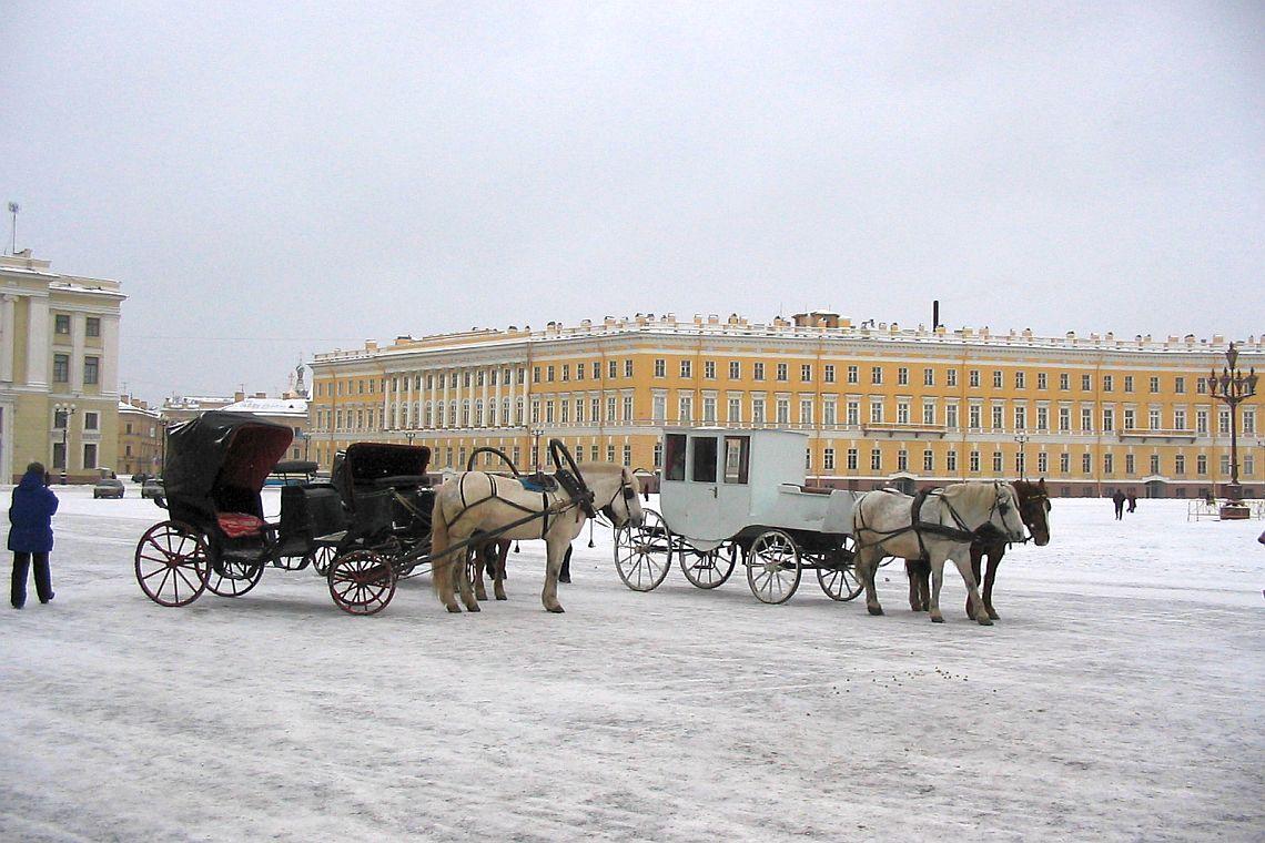 Pferdekutsche auf dem Schlossplatz